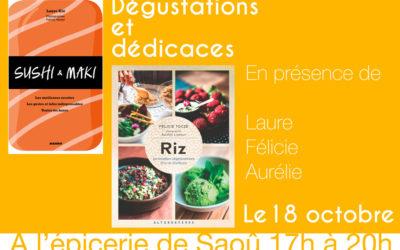 Démonstrations, dégustations et dédicaces 17 et 18 octobre